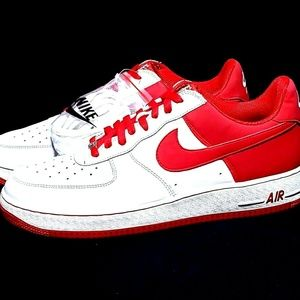 Details about Nike Air Force 1 Low 2006 Mens US Sz 14 EUR 48.5 Varsity Red White 306353 167